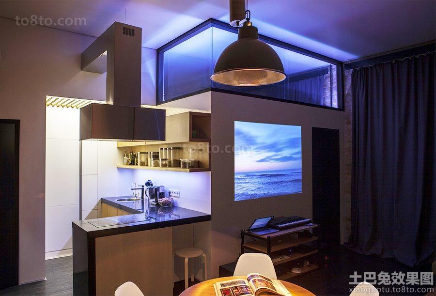 loft小户型电视墙装修效果图片