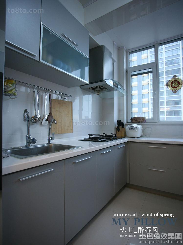 7型衣柜_现代简约L型厨房橱柜效果图-土巴兔装修效果图