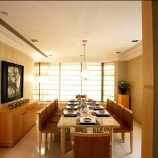 现代风格餐厅十人大餐桌效果图