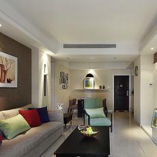 精美82平方二居客厅现代装修实景图片大全