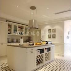 欧式风格开放式厨房马赛克地面效果图