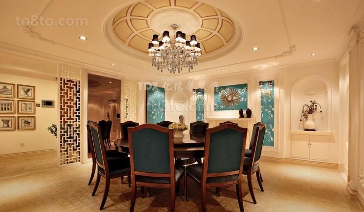 欧式新古典风格餐厅吊顶装修效果图欣赏