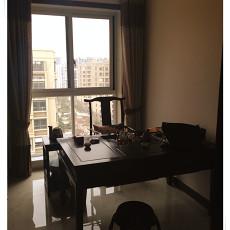 中式风格书房书桌装修效果图