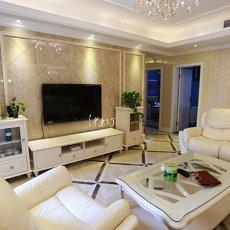 二居客厅欧式实景图片