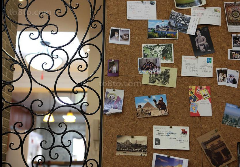 美式田园风格婚房照片墙效果图