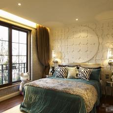 欧美混搭三居室卧室装修效果图