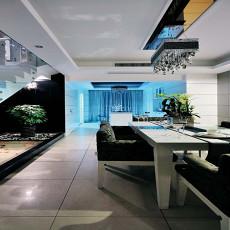 现代风格复式楼餐厅装修效果