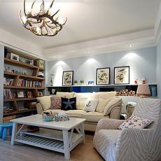 美式地中海小户型客厅装修效果图