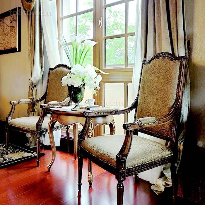 美式田园风格边椅图片