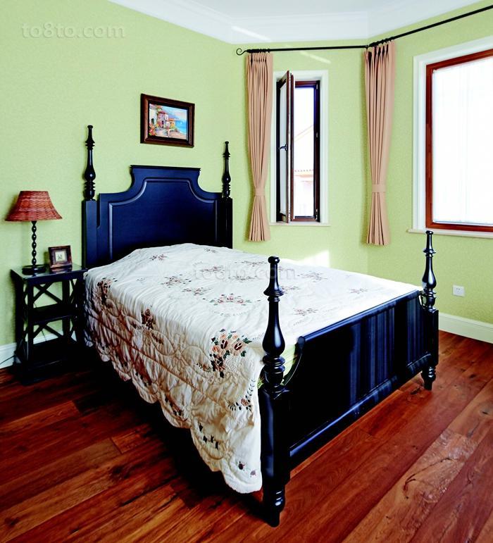 美式田园风格卧室墙面颜色效果图