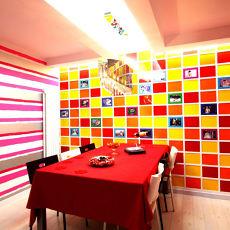 后现代家庭餐厅装修效果图