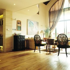 美式风格客厅木地板效果图大全