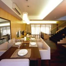 2018面积131平别墅餐厅现代装修效果图片大全