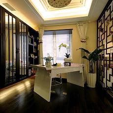 中式风格书房木地板装修效果图