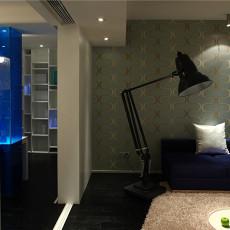 现代简约风格客厅大落地灯效果图