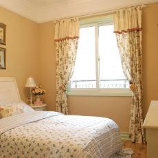 热门面积105平田园三居卧室装修设计效果图