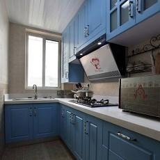 欧式地中海混搭风格厨房装修效果图