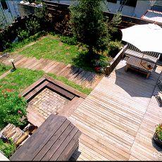 日式露天花园设计效果图