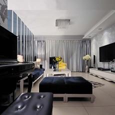 黑白风格客厅装修效果图