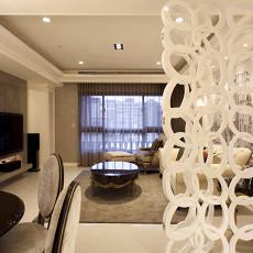 简约欧式风格客厅连餐厅装修效果图