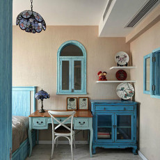 地中海风格卧室角柜效果图