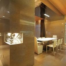 现代简约风格餐厅大理石地面装修效果图