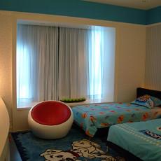 现代风格双人儿童房装修效果图