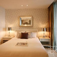 欧式风格次卧室背景墙挂画效果图