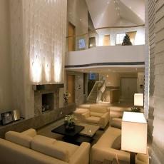现代简约风格别墅样板间客厅装修效果图