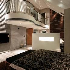 现代简约风格别墅大卧室装修效果图