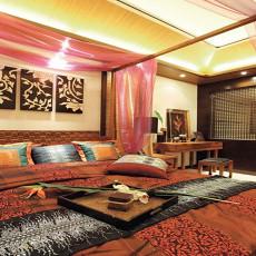 东南亚风格卧室床头挂画效果图欣赏