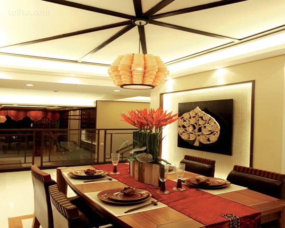 2018面积116平复式餐厅东南亚装修图片