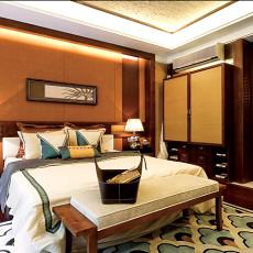 现代中式风格卧室脚凳效果图