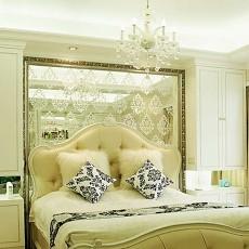 欧式风格卧室镜面背景墙装修效果图
