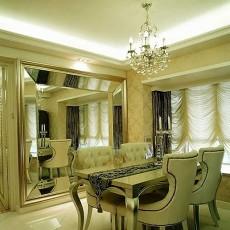 欧式风格餐厅墙镜装修效果图
