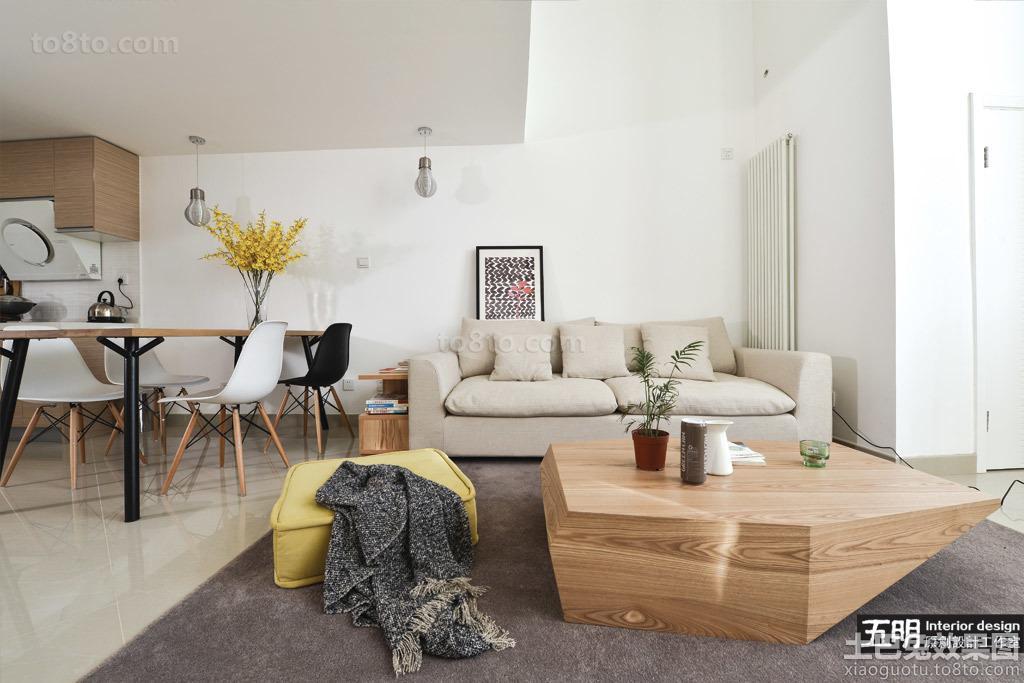 2013客厅沙发实木茶几效果图