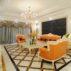 精美面积123平别墅客厅欧式效果图片