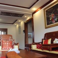中式风格客厅实木小茶几图片