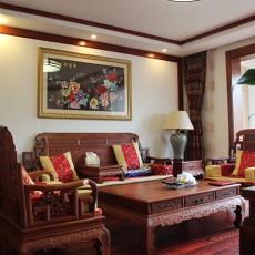 精选面积71平中式二居客厅装修实景图片欣赏