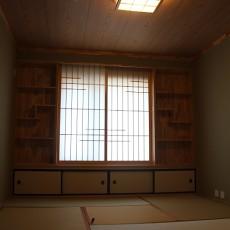美式风格卧室榻榻米床效果图