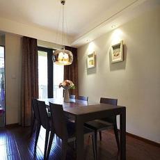 现代中式风格餐厅实木餐桌效果图
