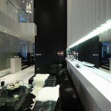 现代风格黑白灰客厅装修效果图