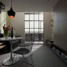 现代简约风格小餐厅连客厅装修效果图