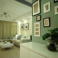 现代风格客厅墙面漆效果图