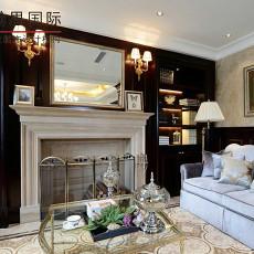 欧式混搭风格客厅装饰壁炉效果图