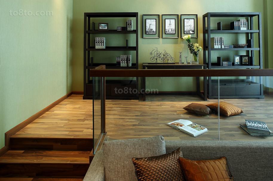 现代中式风格家居楼梯扶手图片
