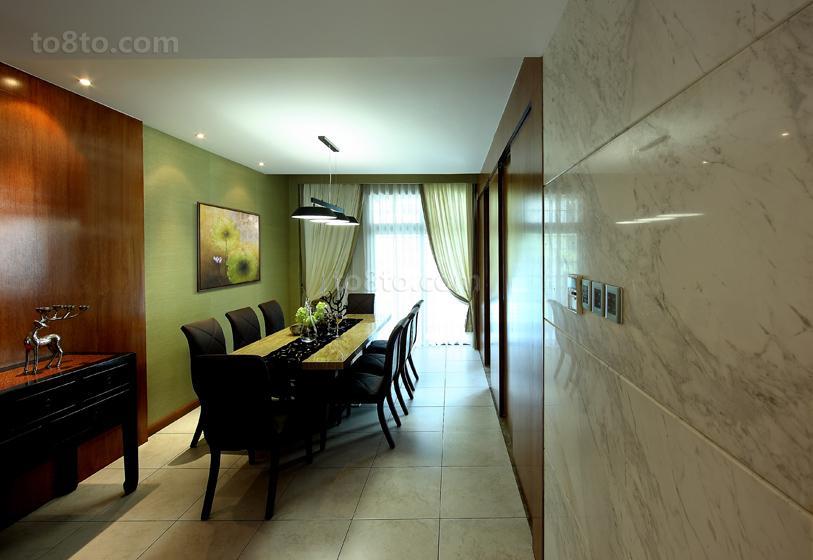 现代中式风格餐厅瓷砖地面装修效果图