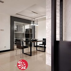 现代简约风格餐厅瓷砖地面效果图