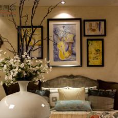 欧式风格客厅沙发挂画效果图