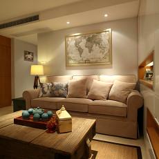 精美76平米二居客厅现代装修图片欣赏